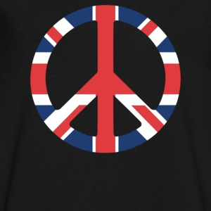 United Kingdom Peace Sign - Men's V-Neck T-Shirt by Canvas