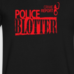 Crime report Police blotter - Men's V-Neck T-Shirt by Canvas