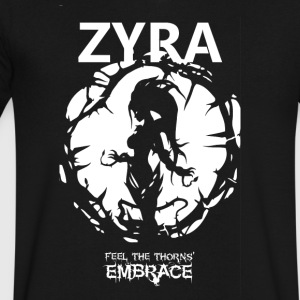 "Zyra ""Feel the thorns, Embrace"" - Men's V-Neck T-Shirt by Canvas"