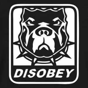 Disobey - Men's V-Neck T-Shirt by Canvas