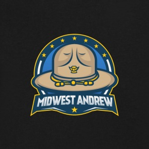 Midwest Andrew Logo - Men's V-Neck T-Shirt by Canvas
