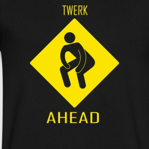 Twerk Ahead - Men's V-Neck T-Shirt by Canvas