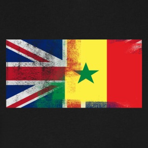 British Senegalese Half Senegal Half UK Flag - Men's V-Neck T-Shirt by Canvas