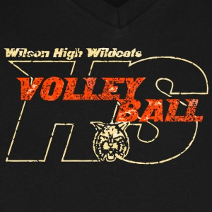 Wilson High Wildcats Volleyball HS - Men's V-Neck T-Shirt by Canvas