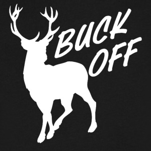 BUCK OFF Funny Hunting - Men's V-Neck T-Shirt by Canvas
