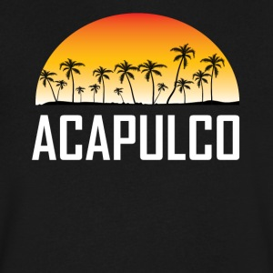 Acapulco Mexico Sunset And Palm Trees Beach - Men's V-Neck T-Shirt by Canvas