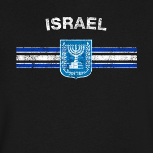 Israeli Flag Shirt - Israeli Emblem & Israel Flag - Men's V-Neck T-Shirt by Canvas