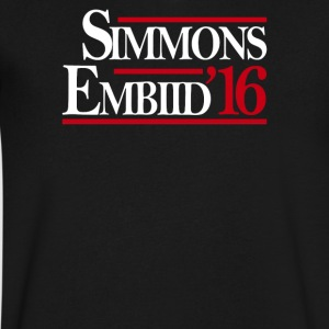Simmons Embiid '16 - Men's V-Neck T-Shirt by Canvas