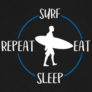 Surf, Eat, Sleep, Repeat - Men's V-Neck T-Shirt by Canvas