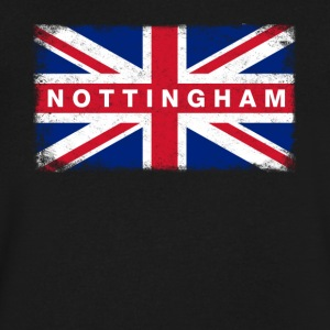 Nottingham Shirt Vintage United Kingdom Flag T-Shi - Men's V-Neck T-Shirt by Canvas