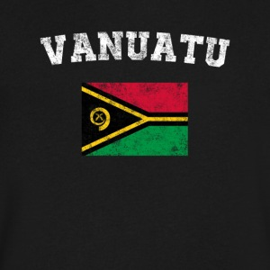 Ni-Vanuatu Flag Shirt - Vintage Vanuatu T-Shirt - Men's V-Neck T-Shirt by Canvas