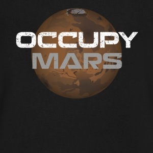 occupy mars - Men's V-Neck T-Shirt by Canvas