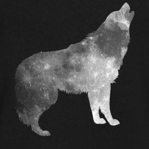Moon Wolf - Men's V-Neck T-Shirt by Canvas