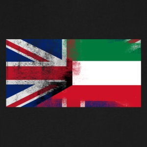 British Kuwaiti Half Kuwait Half UK Flag - Men's V-Neck T-Shirt by Canvas