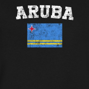 Aruba Flag Shirt - Vintage Aruba T-Shirt - Men's V-Neck T-Shirt by Canvas