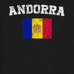 Andorran Flag Shirt - Vintage Andorra T-Shirt - Men's V-Neck T-Shirt by Canvas