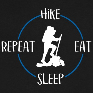 Hike, Eat, Sleep, Repeat - Men's V-Neck T-Shirt by Canvas