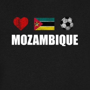 Mozambique Football Shirt - Mozambique Soccer Jers - Men's V-Neck T-Shirt by Canvas