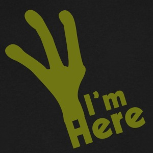 I'M Here - Men's V-Neck T-Shirt by Canvas