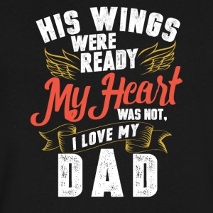 His wings were ready my heart was not - Men's V-Neck T-Shirt by Canvas