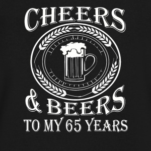 Cheers And Beers To My 65 Years - Men's V-Neck T-Shirt by Canvas
