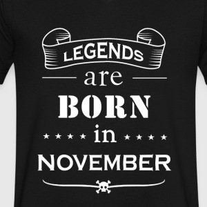 Legendary Birth Month - Men's V-Neck T-Shirt by Canvas