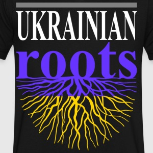 Ukrainian Roots Tshirt - Men's V-Neck T-Shirt by Canvas