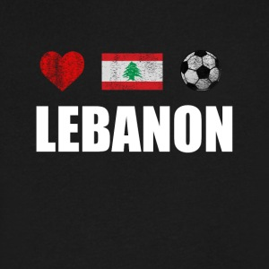 Lebanon Football Shirt - Lebanon Soccer Jersey - Men's V-Neck T-Shirt by Canvas
