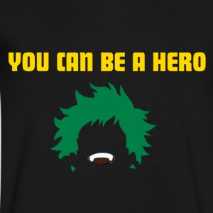 You can be a hero - Men's V-Neck T-Shirt by Canvas