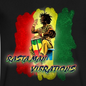 Rasta Vibez - Men's V-Neck T-Shirt by Canvas