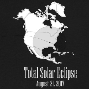 eclipse august 2017 - Men's V-Neck T-Shirt by Canvas