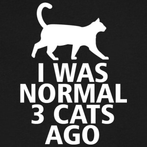 I was normal three cats ago - Men's V-Neck T-Shirt by Canvas