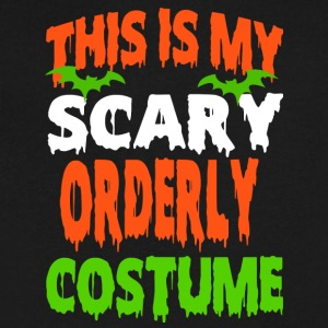 Orderly - SCARY COSTUME HALLOWEEN SHIRT - Men's V-Neck T-Shirt by Canvas