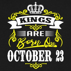 Kings are born on October 23 - Men's V-Neck T-Shirt by Canvas