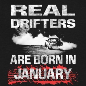 Drifter Racer real drifters born JANUARY - Men's V-Neck T-Shirt by Canvas