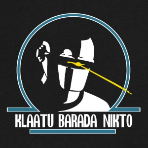 GORT - Klaatu Barada Nikto - Men's V-Neck T-Shirt by Canvas