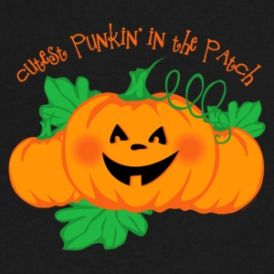 cutest Punkin in the Patch - Men's V-Neck T-Shirt by Canvas