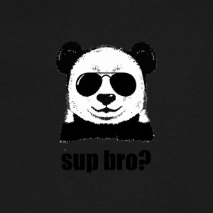 Swag Panda - Men's V-Neck T-Shirt by Canvas