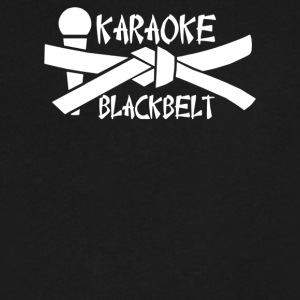 Karaoke Blackbelt - Men's V-Neck T-Shirt by Canvas
