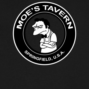 Moe s Tavern Springfield USA The Simpsons - Men's V-Neck T-Shirt by Canvas