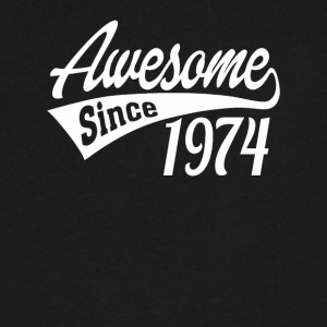 Awesome Since 1974 - Men's V-Neck T-Shirt by Canvas
