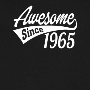 Awesome Since 1965 - Men's V-Neck T-Shirt by Canvas