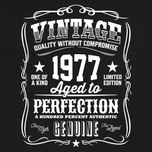 Vintage 1977 Aged to Perfection - Men's V-Neck T-Shirt by Canvas