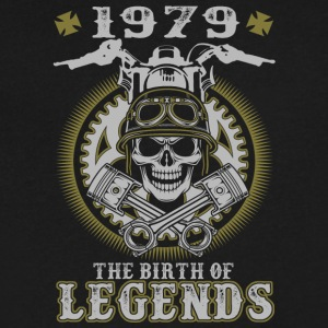 1979 The Birth Of Legends - Men's V-Neck T-Shirt by Canvas