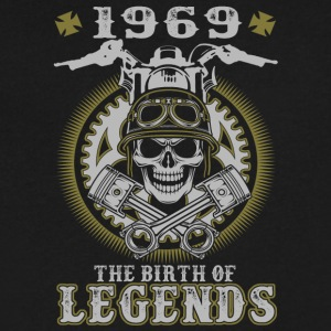 1969 The Birth Of Legends - Men's V-Neck T-Shirt by Canvas