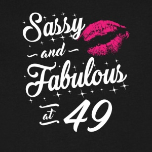 Sassy and Fabulous At 49 - Men's V-Neck T-Shirt by Canvas