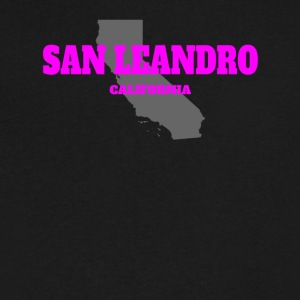 CALIFORNIA SAN LEANDRO US STATE EDITION PINK - Men's V-Neck T-Shirt by Canvas