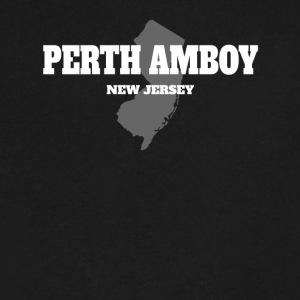 NEW JERSEY PERTH AMBOY US STATE EDITION - Men's V-Neck T-Shirt by Canvas
