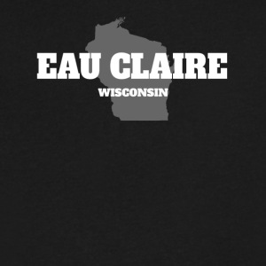 WISCONSIN EAU CLAIRE US STATE EDITION - Men's V-Neck T-Shirt by Canvas
