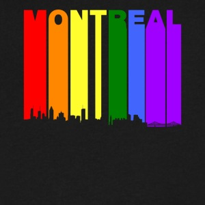 Montreal Quebec Skyline Rainbow LGBT Gay Pride - Men's V-Neck T-Shirt by Canvas